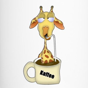 Giraffe im Kaffeepool - Thermobecher