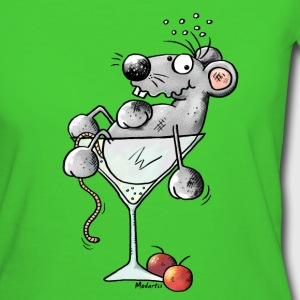 Grappig Cocktail Muis T-shirts - Vrouwen Bio-T-shirt