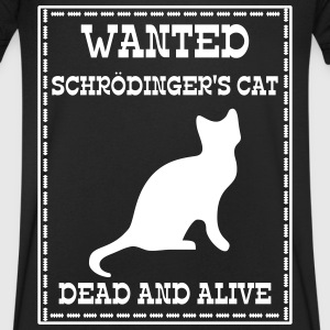 Wanted Schrödinger's Cat - Dead And Alive T-skjorter - T-skjorte med V-utsnitt for menn