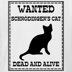Wanted Schrödinger's Cat - Dead And Alive Tee shirts - T-shirt baseball manches courtes Homme