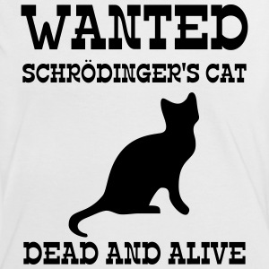 Wanted Schrödinger's Cat - Dead And Alive T-shirts - Kontrast-T-shirt dam