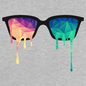 Abstract Psychedelic Nerd Glasses with Color Drops Camisetas - Camiseta bebé