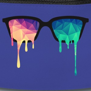 Abstract Psychedelic Nerd Glasses with Color Drops Sacs et sacs à dos - Sac banane
