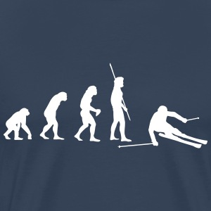 Evolution skier downhill T-Shirts - Men's Premium T-Shirt