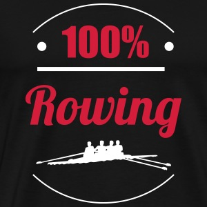100% Rowing T-shirts - Mannen Premium T-shirt