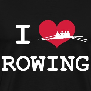 I Love Rowing T-shirts - Herre premium T-shirt
