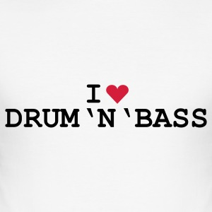 Weiß love_drumnbass T-Shirt - Herre Slim Fit T-Shirt