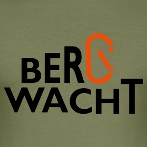 Bergwacht Shirt - Männer Slim Fit T-Shirt