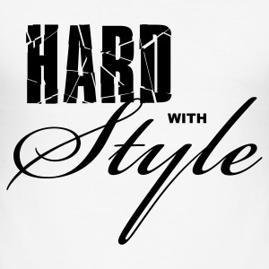Wit Hard with Style Heren t-shirts - slim fit T-shirt