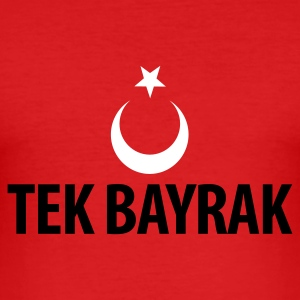 Rot tekbayrak T-Shirt - Männer Slim Fit T-Shirt
