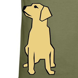 Oliven Dog (The philosopher) T-Shirts - Herre Slim Fit T-Shirt
