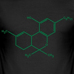 THC - weed - cannabis - slim fit T-shirt