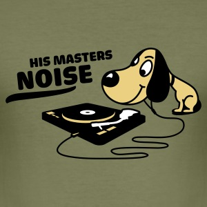 Olive his master noise T-Shirt - Männer Slim Fit T-Shirt