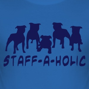Koningsblauw staffaholic01 Heren t-shirts - slim fit T-shirt