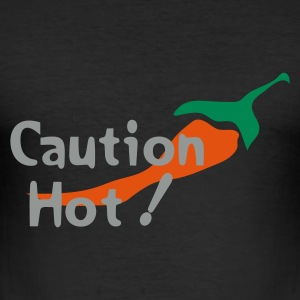 Caution Hot! - Männer Slim Fit T-Shirt