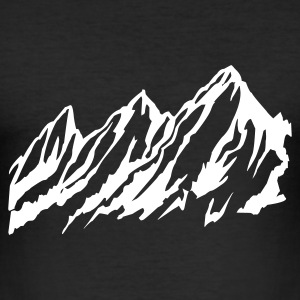 Black snow, mountains, winter, alpes, snowboard, skiiing Men's Tees (short-sleeved) - Men's Slim Fit T-Shirt