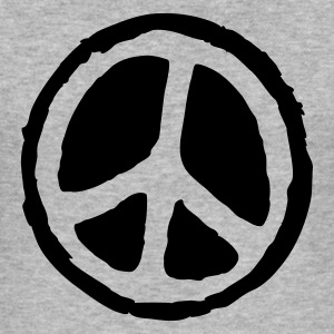 Graumeliert peace sign T-Shirts (Kurzarm) - Männer Slim Fit T-Shirt