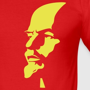 Red rus_lenin_portrait_1c01 Men's Tees (short-sleeved) - Men's Slim Fit T-Shirt