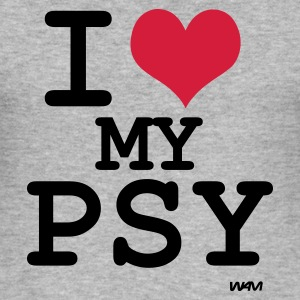 i love my psy T-shirts (m. courtes) - Tee shirt près du corps Homme