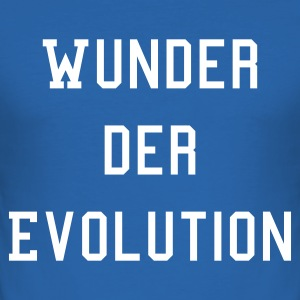 Royalblau Wunder der Evolution T-Shirts (Kurzarm) - Männer Slim Fit T-Shirt