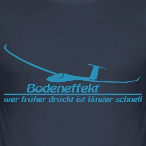 Navy Bodeneffekt Slim Fit - Männer Slim Fit T-Shirt