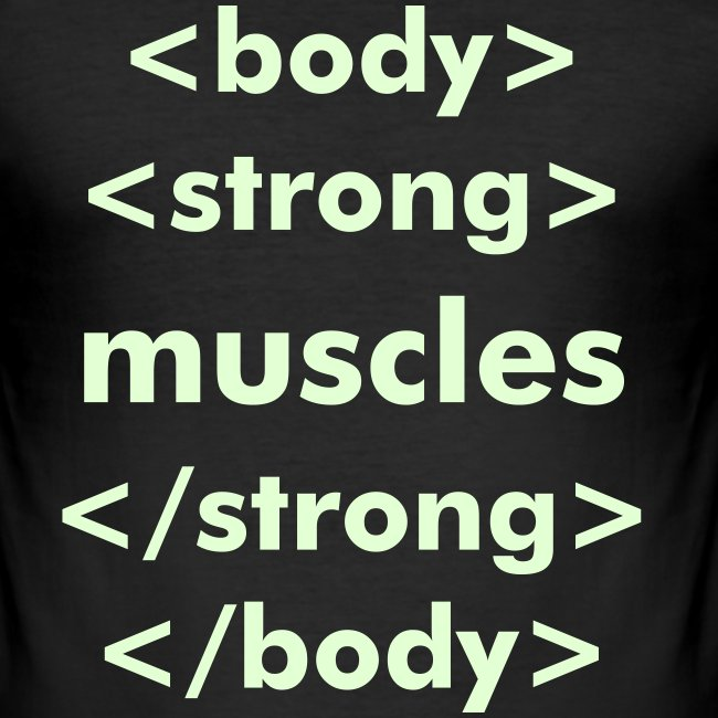 strong muscles html - GLOW IN THE DARK