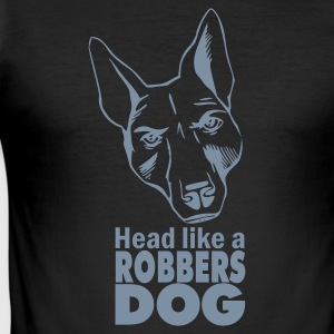 Black Robbers Dog Men's Tees (short-sleeved) - Men's Slim Fit T-Shirt