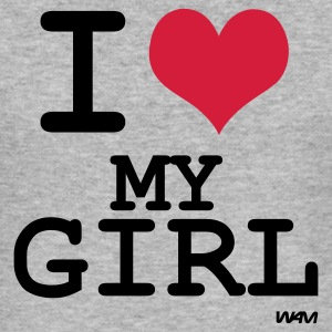 i love my girl T-shirts (m. courtes) - Tee shirt près du corps Homme