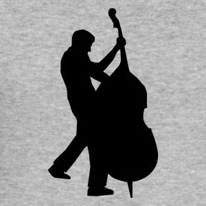 Graumeliert bass player - kontrabass T-Shirts (Kurzarm) - Männer Slim Fit T-Shirt