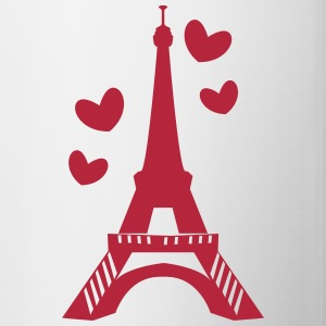Love in Paris tower Drinkware - Contrasting Mug