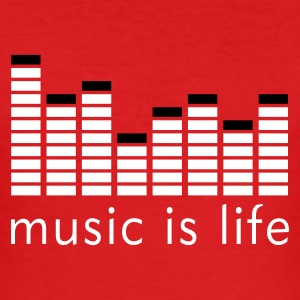 Music is life Equalizer / Music is life equaliser T-Shirts - Men's Slim Fit T-Shirt