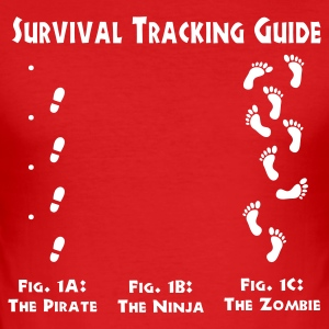 Survival Tracking Guide T-skjorter - Slim Fit T-skjorte for menn