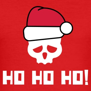 Rot HO HO HO! T-Shirts - Männer Slim Fit T-Shirt