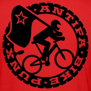 Rot Antifa Bike Punks T-Shirts - Männer Slim Fit T-Shirt