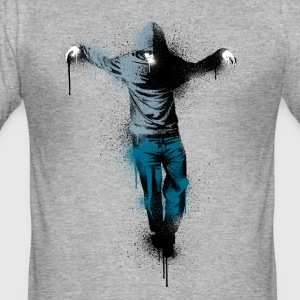 Heather grey  T-Shirts - Men's Slim Fit T-Shirt