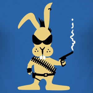 Royalblau Killer bunny (3c) T-Shirts - Männer Slim Fit T-Shirt