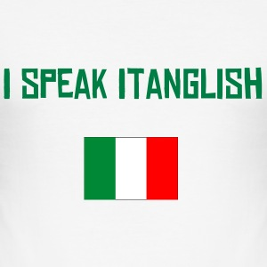 Italian I speak Itanglish - Men's Slim Fit T-Shirt
