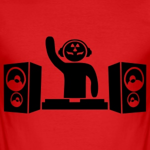 Red Hardcore DJ Men's Tees - Men's Slim Fit T-Shirt
