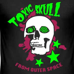 Noir Toxic Skull From Outter Space T-shirts - Tee shirt près du corps Homme