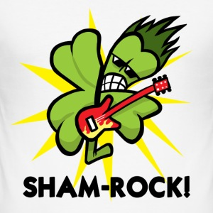 White SHAM-ROCK! Men's Tees - Men's Slim Fit T-Shirt