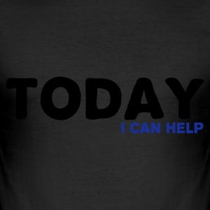 Eigelb TODAY i can help T-Shirts - Männer Slim Fit T-Shirt