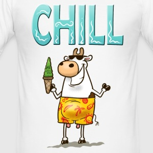 White Chill Cow Men's Tees - Men's Slim Fit T-Shirt