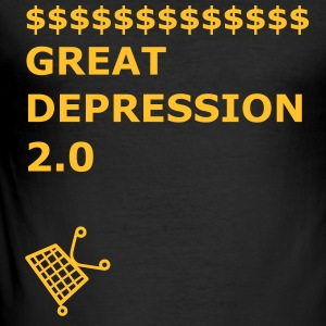 GREAT DEPRESSION 2.0 - Männer Slim Fit T-Shirt