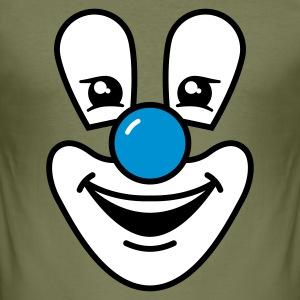 Olive Clown T-Shirts - Männer Slim Fit T-Shirt