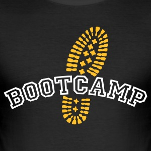 Schwarz BOOTCAMP © T-Shirts - Herre Slim Fit T-Shirt