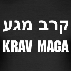 Black Krav Maga - Hebrew Men's Tees - Men's Slim Fit T-Shirt