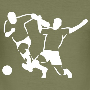 Olive football_fairplay_v2_newstyle T-shirts - Tee shirt près du corps Homme