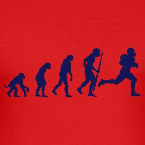 Red Evolution of American Football Men's Tees - Men's Slim Fit T-Shirt