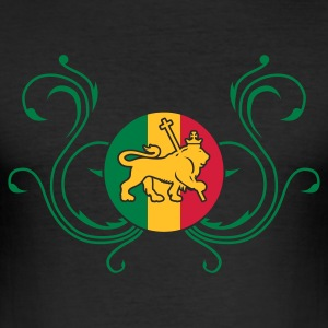 Black lion_of_judah_jamaica_v2c_3c Men's Tees - Men's Slim Fit T-Shirt