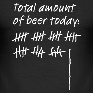 Black Total amount of beer today: Men's Tees - Men's Slim Fit T-Shirt